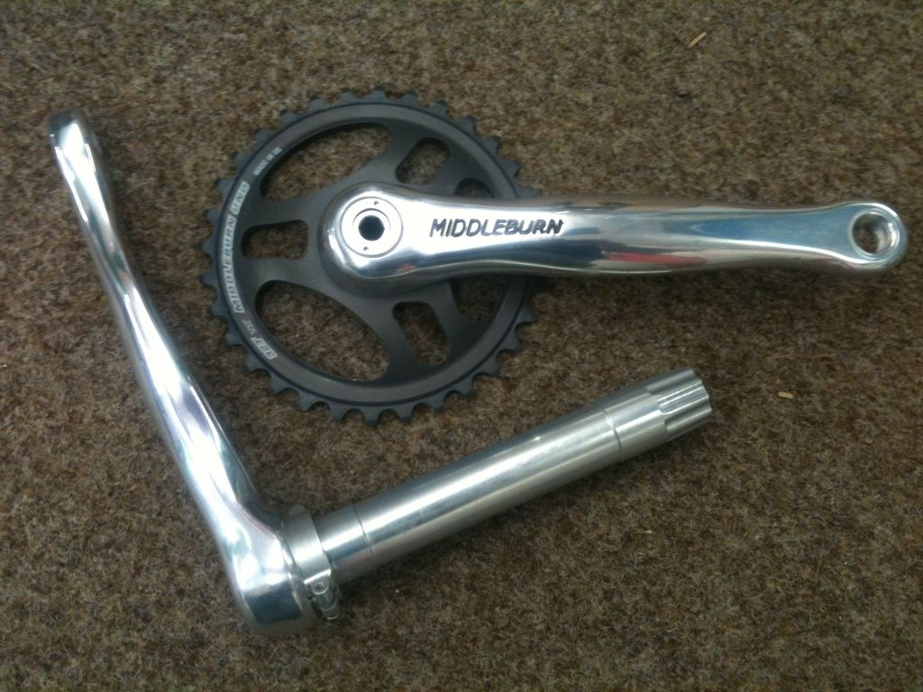 Middlebrun 100mm cranks at Sideways Cycles